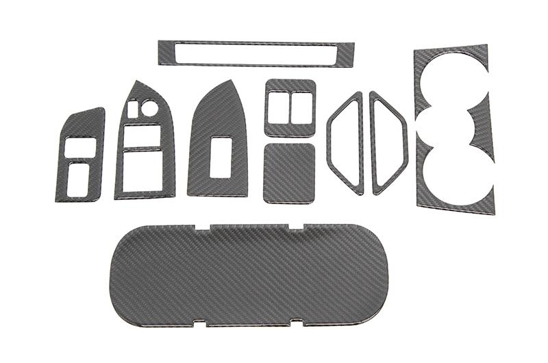 OLM Carbon Fiber Interior Dress Up Kit (12pc) Premium RHD ONLY