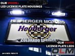 OLM License Plate Bulbs - 2015-2020 Subaru WRX / STI / 2013-2020 Scion FR-S / Subaru BRZ / Toyota 86 / 2014-2018 Subaru Forester / 2013-2018 Subaru Crosstrek / 2017-2020 Impreza 5D (Hatch)