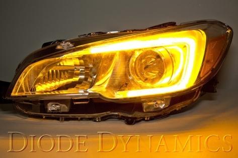 Diode Dynamics Switchback LED C-light DRLs for Headlights - 2015+ WRX / 2015+ STI
