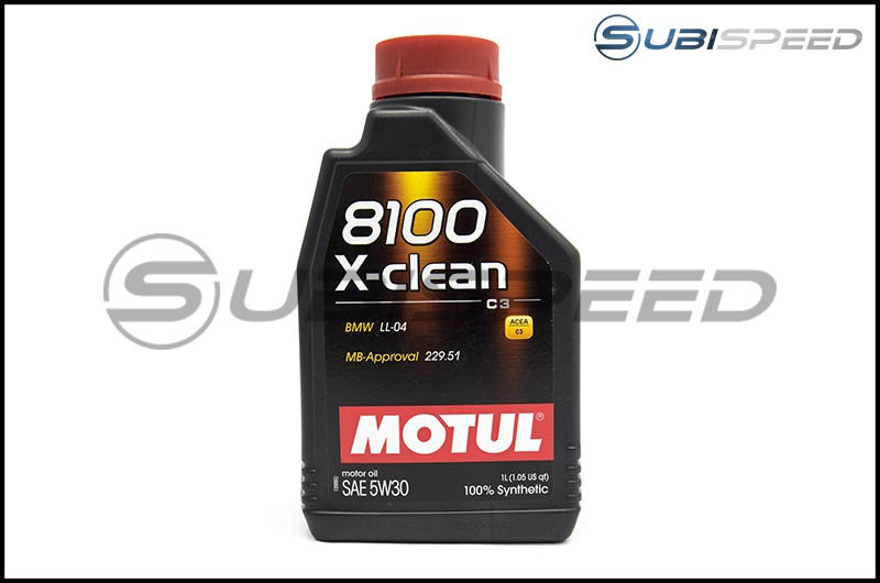MOTUL 8100 X-Clean 5W30 Full Synthetic Motor Oil (1.05 Quarts)
