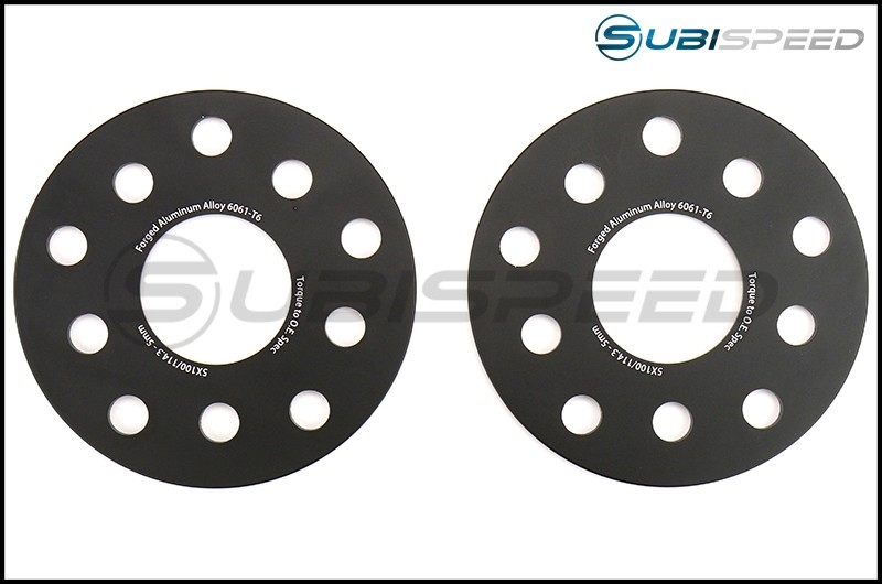 FactionFab Subaru 5x100 / 114.3 5mm 6061-T6 Forged 5mm Spacer Set