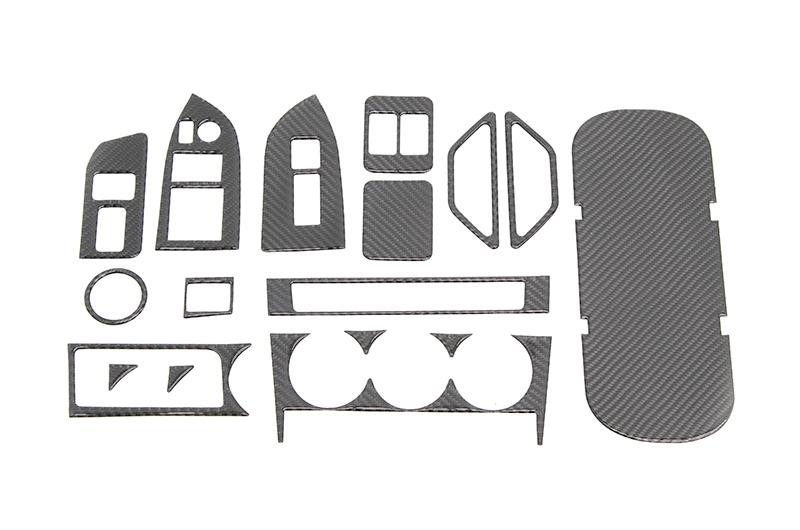 OLM Carbon Fiber Interior Dress Up Kit (17pc w/Passenger Door Lock) Limited RHD ONLY
