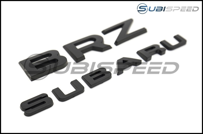 Subaru BRZ Black Trunk Emblems