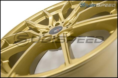 Option Lab R716 Wheels 18x9.5 +35 Top Secret Gold Wheels - 2013+ FR-S / BRZ / 86 / 2014+ Forester