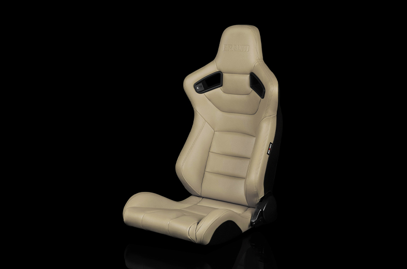 Braum Elite Series Sport Seats - Beige Leatherette Pair