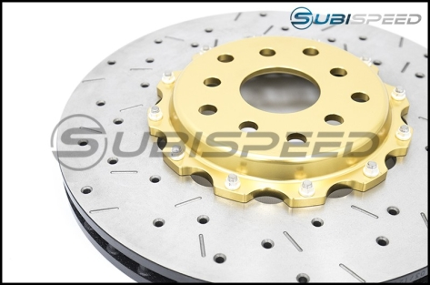 DBA 5000 Series 2 Piece Drilled and Slotted Rotor (Front) - 2015-2017 STI / 2013+ FR-S / BRZ / 86 (Performance Package) /  (Performance Package)
