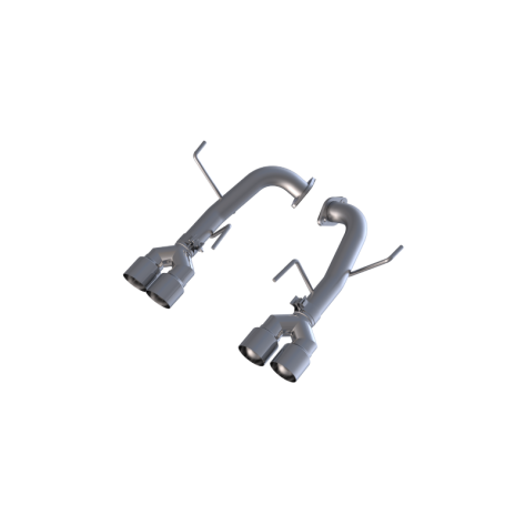MBRP Street 2.5in Quad Tip Axle Back Exhaust - 2015+ WRX / 2015+ STI