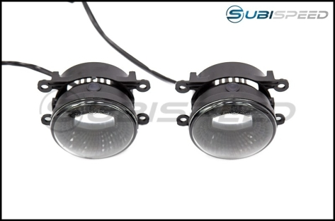 OLM Midnight Edition LED Fog Lights - 15+ WRX / STI / 13-16 BRZ / 13-18 Crosstrek / 14-18 Forester / 13-16 FR-S / BRZ / 86