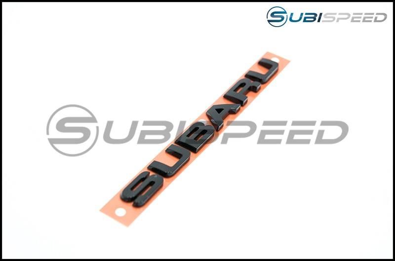 Subaru Hyperblue Series Black Subaru Trunk Emblem