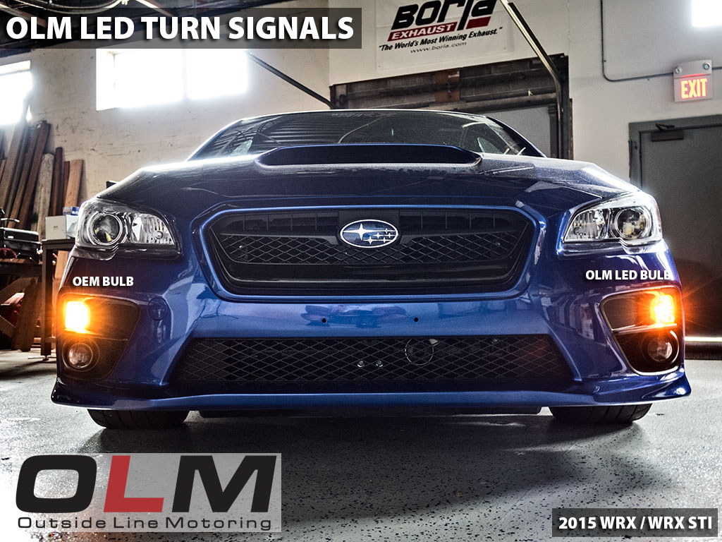 OLM LED Front Turn Signal Bulbs - 2015-2020 Subaru WRX & STI / 2013-2016 Scion FR-S / BRZ  / 2014-2021 Forester / 2013-2021 Crosstrek