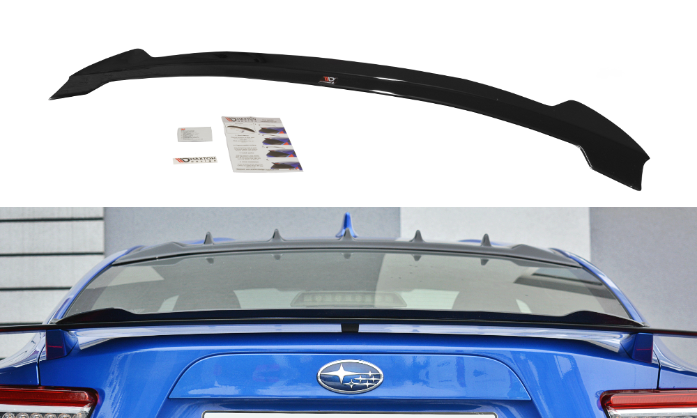 Maxton Design Gloss Black Gurney Flap V2 for OEM BRZ Spoiler