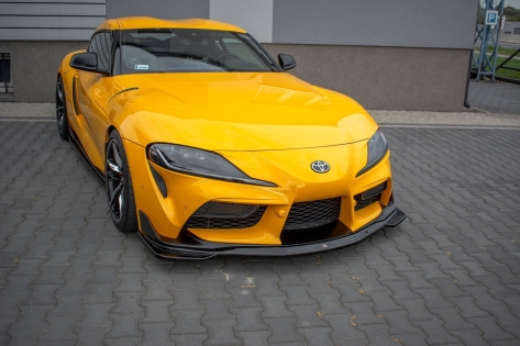 Maxton Design V1 Gloss Black Front Lip - 2020+ A90 Supra
