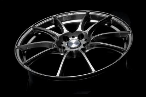 WedsSport SA-25R 18x9.5 +38 Platinum Silver Black - 2015-2020 Subaru WRX & STI