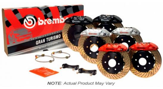 Brembo GT 4 Piston Front BBK Slotted or Drilled