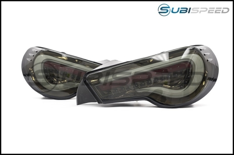 OLM VL Style / Helix Sequential Smoked Lens Tail Lights (Black Gold Edition)