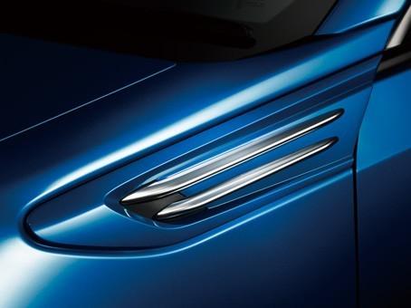 Subaru OEM JDM Satin Silver Fender Blade Trim Covers