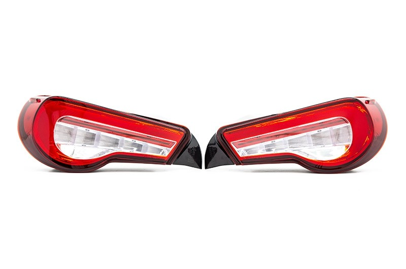Valenti Jewel LED Tail Lights (Red Lens, Chrome Reflector)