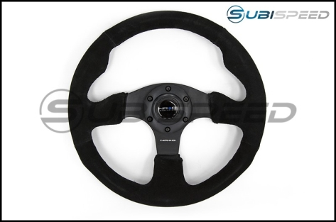 NRG Race Style Suede Steering Wheel 320mm w/ Black Stitching - Universal