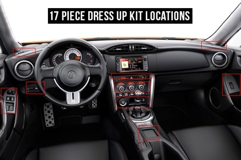 OLM Carbon Fiber Interior Dress Up Kit (17pc) Limited - 2013+ BRZ