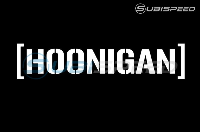 HOONIGAN Small Die Cut Cbar Sticker White