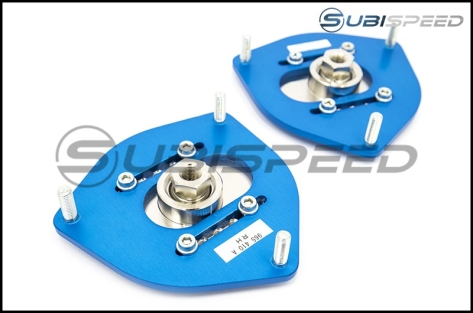 Cusco Front Adjustable Pillow Ball Upper Mount Camber Plates - 2013+ BRZ