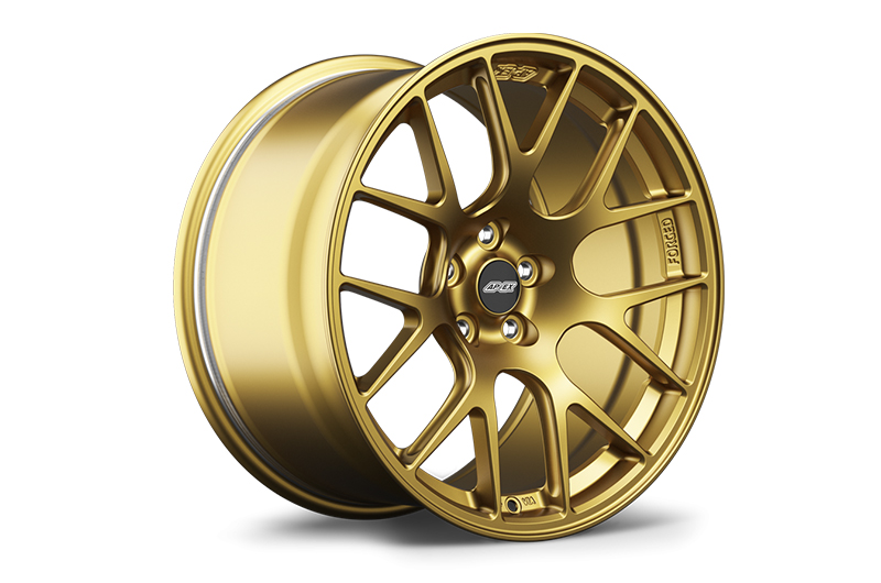 Apex Race Parts 18x9 +35 EC-7R Forged Satin Gold