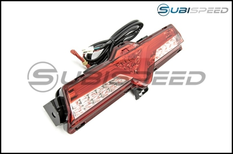 OLM VL Style 4th Brake Light / Reverse Light (Clear Lens, Red Chrome Housing) - 2013+ FR-S / BRZ