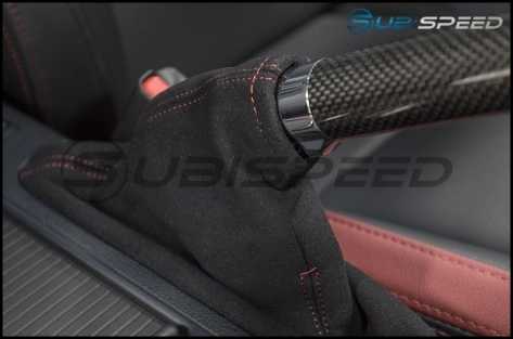 JDM Station Alcantara Style eBrake Boot with Red Stitching