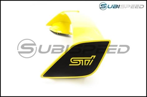 STI Spoiler 3D Carbon Fiber Wing End Overlays