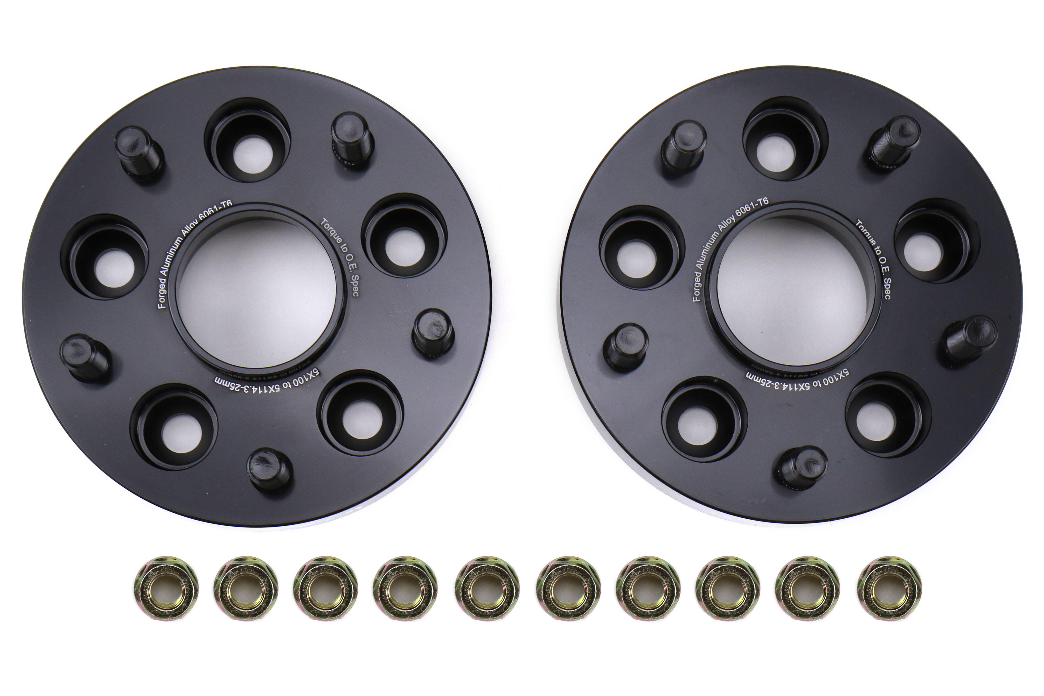 FactionFab Subaru 5X100 to 5X114.3 25mm Wheel Spacer Conversion Set