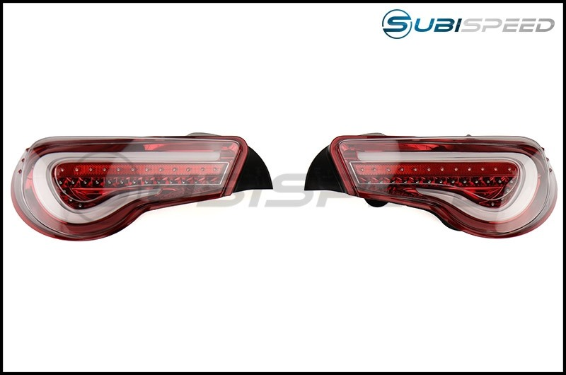 Valenti Jewel LED Tail Light (Clear Lens, Red Chrome Inner Reflector)