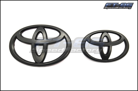 2017 Matte Black Front and Rear Toyota Emblems - 2017+ 86