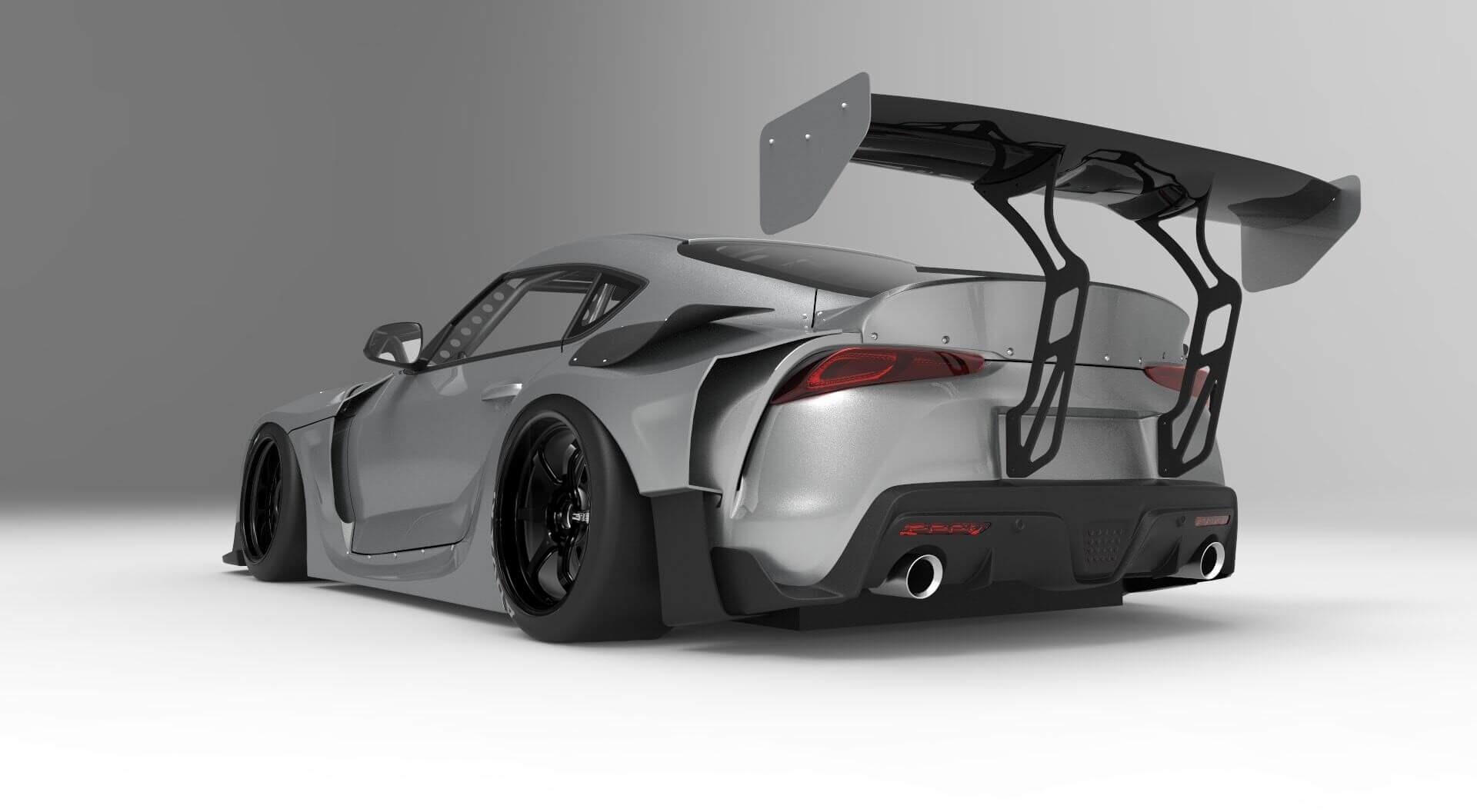 HKS Premium Body Full Kit GR SUPRA (with FRP GT wing)