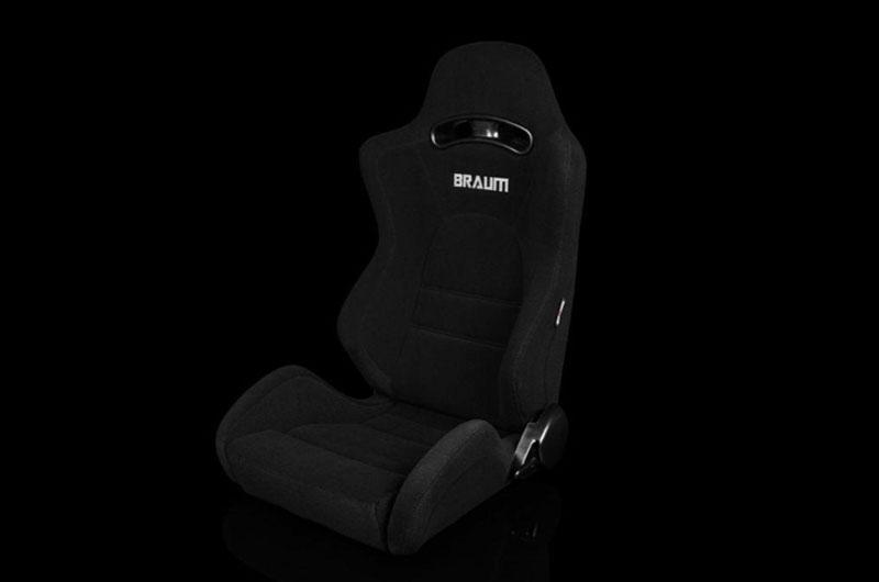 Braum S8 Series V2 Sport Seats - Black Cloth Pair