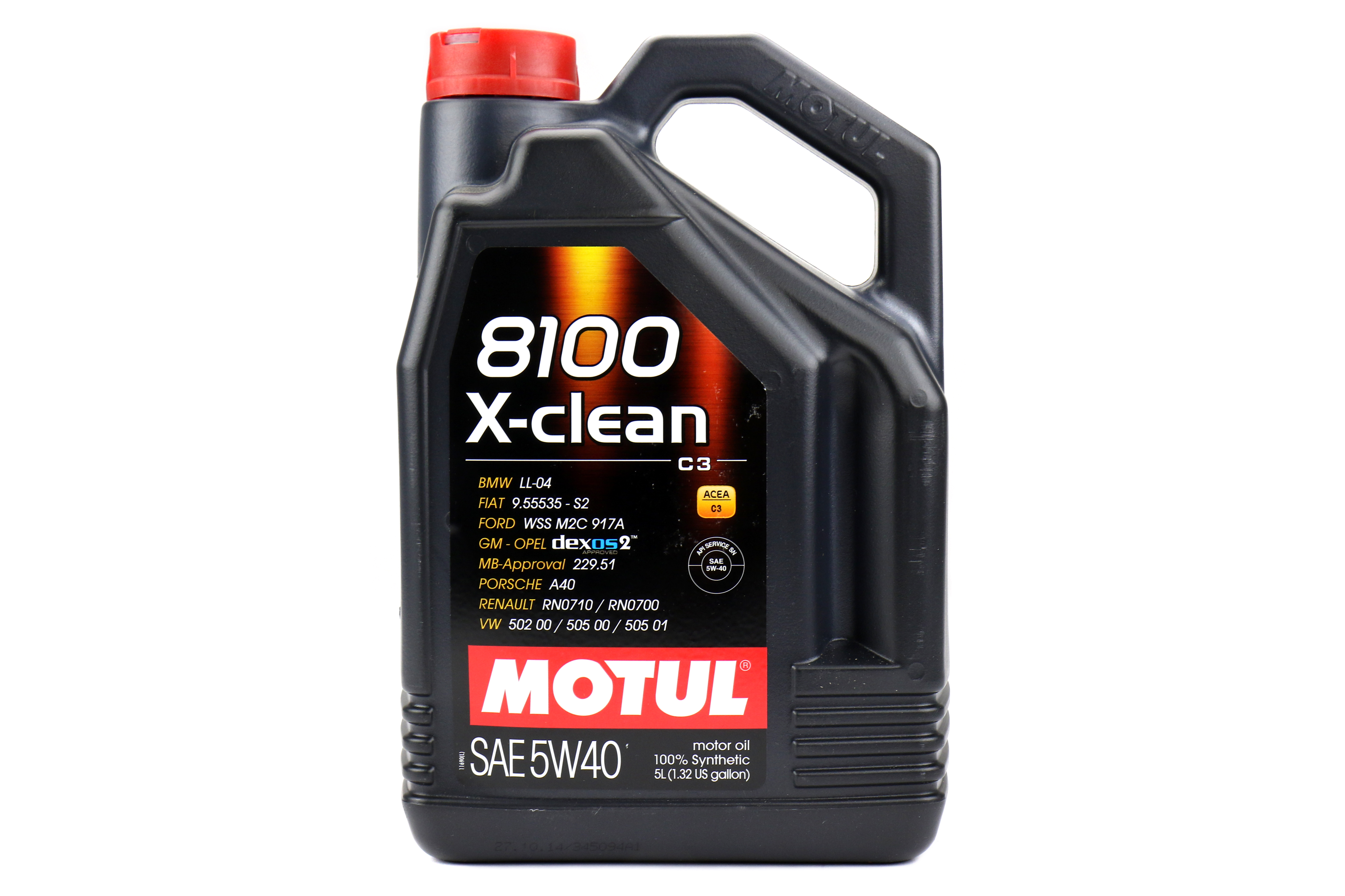 Motul 8100 X-Clean Engine Oil 5W40 5L