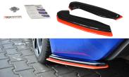 Maxton Design V2 Redline Rear Side Splitters - 2013-2021 Subaru BRZ