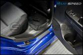 3D Carbon Fiber Door Sill Overlays - 2015-2020 Subaru WRX