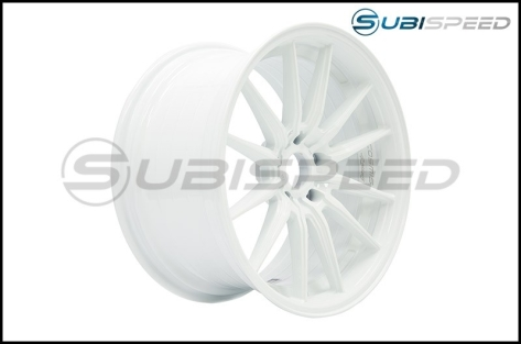 Cosmis Racing R1 18x9.5 +35mm White - 2015+ WRX / 2015+ STI