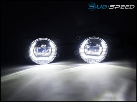 OLM LED / Corona Ring DRL Fog Light Housings - 15+ WRX / STI / 13-16 BRZ /  14-18 Forester / 13-17 Crosstrek / 13-16 FR-S / BRZ / 86