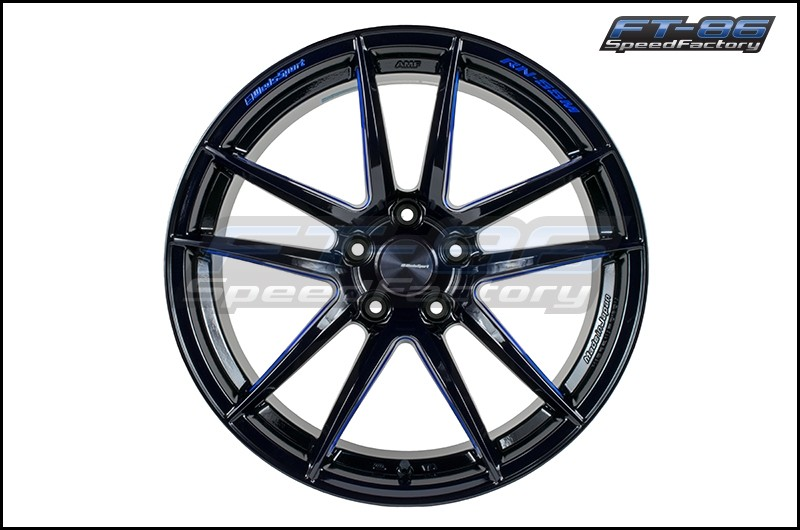 Weds RN-55M B-lack/Blue Machining 18x9 +32 (Front) 18x10 +36 (Rear) - 2020+ A90 Supra