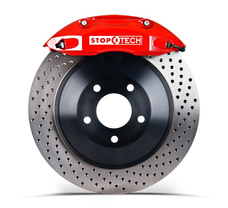 Stoptech 355x32 Big Brake Kit Drilled / Red (Front)
