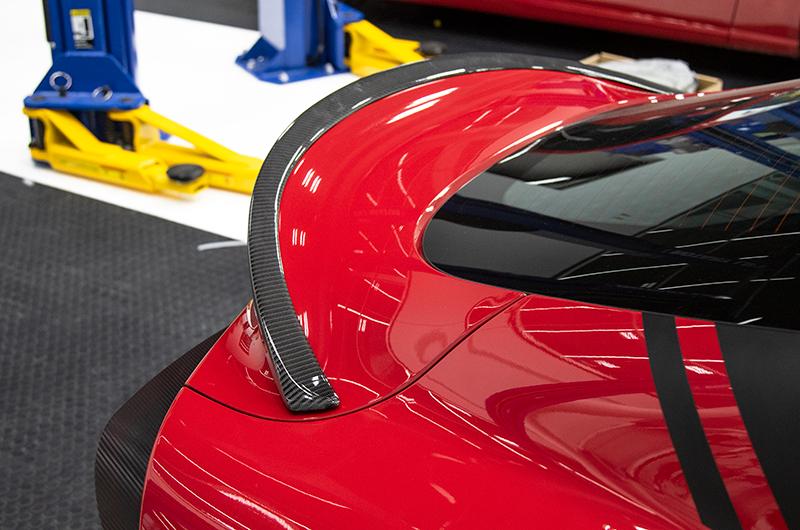 OLM Carbon Fiber RV Style Rear Trunk Spoiler