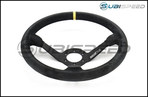 Sparco 325 Competition Black Suede Steering Wheel 350mm
