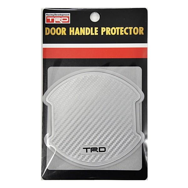 TRD Silver Carbon Fiber Door Handle Protector Silver