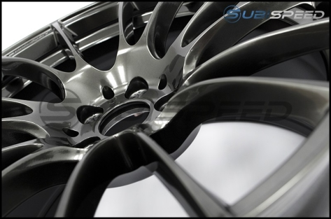 WedsSport SA-72R Hyper Black 18x9.5 +45 R Face - 2013+ FR-S / BRZ / 86 / 2014+ Forester