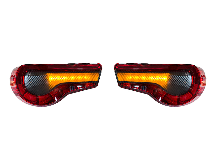 StickerFab Special Edition Dark Smoke Carbon Fiber Tail Light Overlays