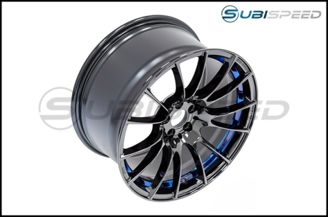 WedsSport SA-72R Blue Light Chrome 18x9.5 +45 R Face - 2013+ FR-S / BRZ / 86 / 2014+ Forester
