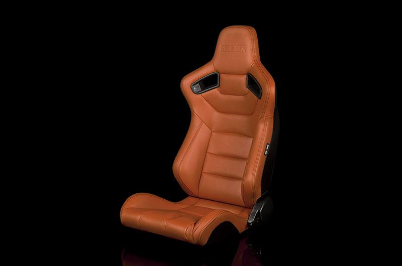 Braum Elite Series Sport Seats - British Tan Leatherette Pair