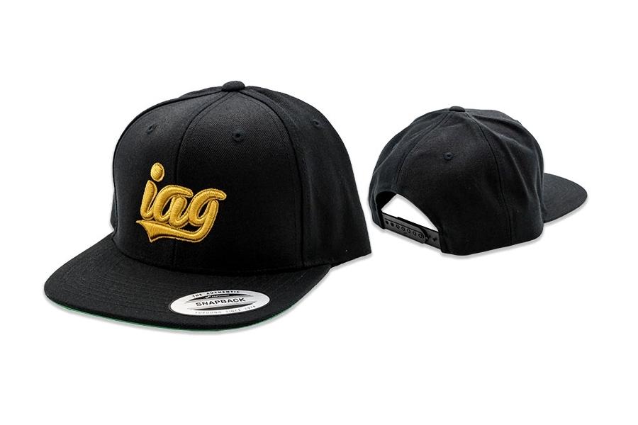 IAG Snapback Hat with IAG Gold Script
