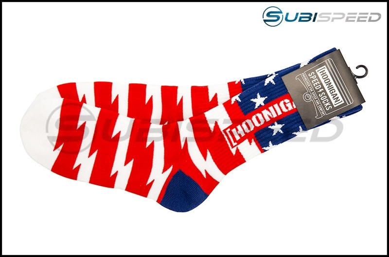 HOONIGAN Stars & Stripes Red, White, and Blue Crew Socks
